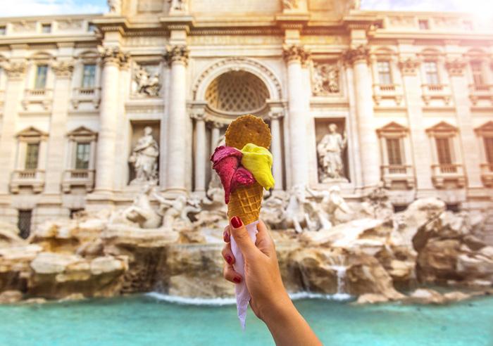 gelato trevi fountain rome