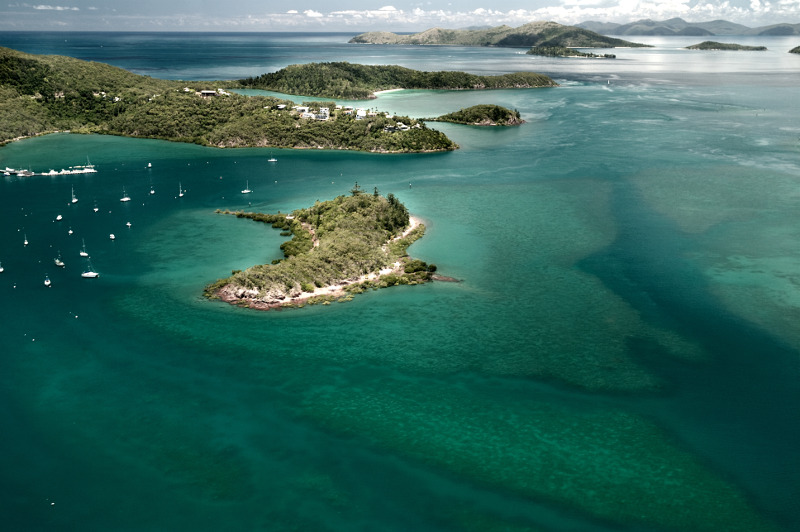 Aerial view of Hamilton Islands