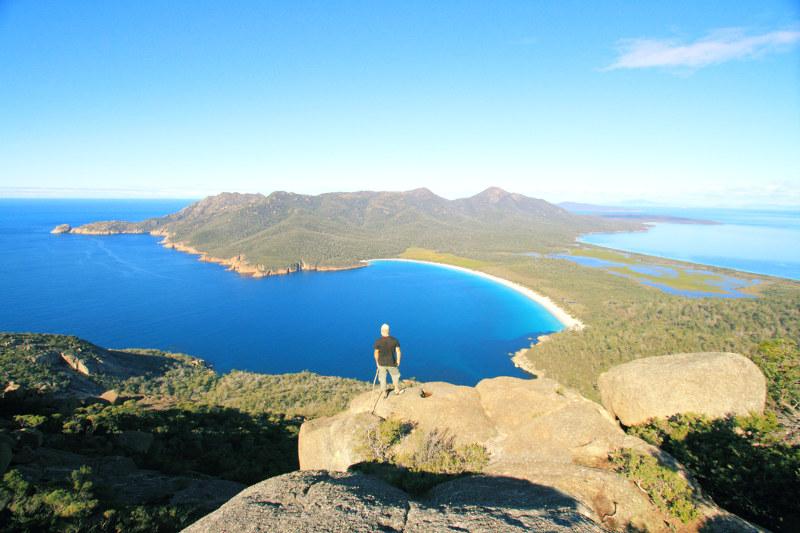 winelgass bay view from mount amos tasmania