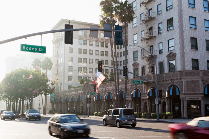 rodeo drive is one of la's most famous streets and shopping precincts