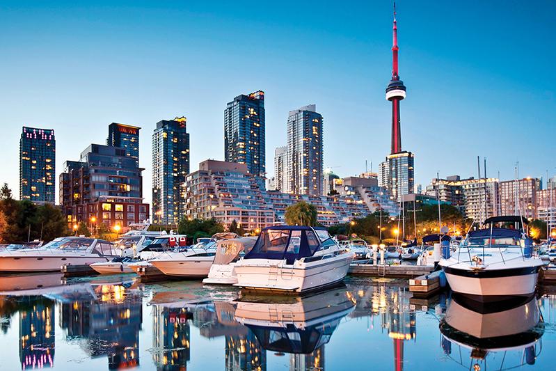 CN Tower and Toronto city skyline, Ontario