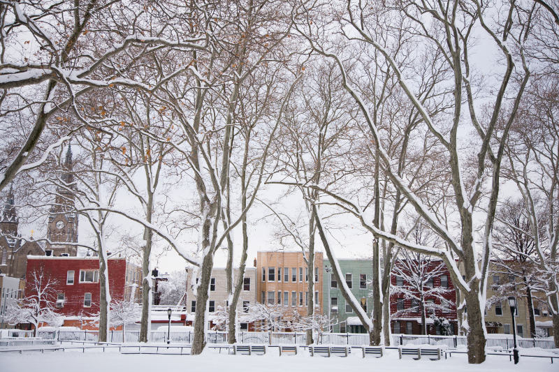 McGolrick Park in the heart of Greenpoint, after a blizzard.