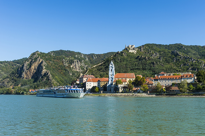 river cruise ship on the danube