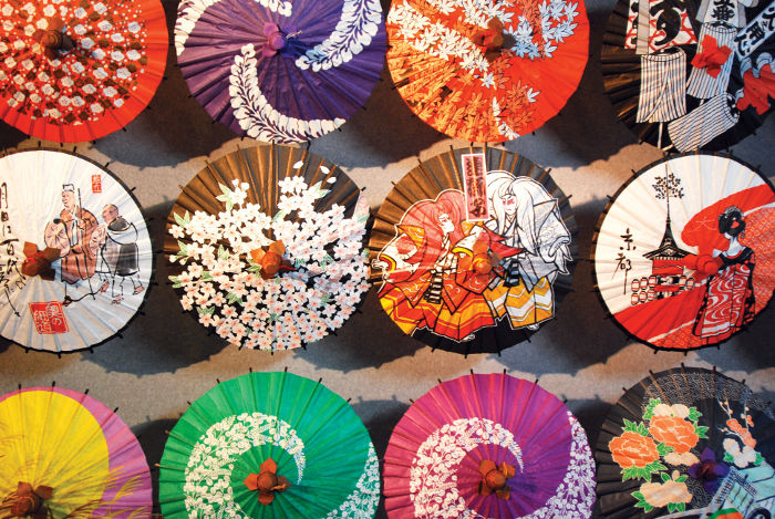 wagasa parasols are synonymous with japan
