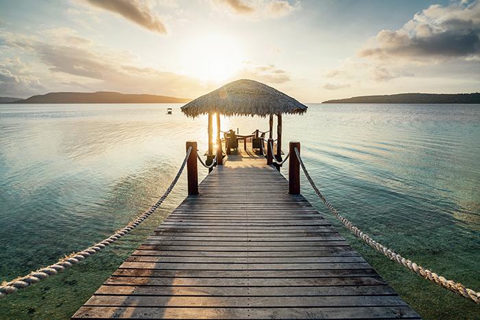 romantic sunset dinner efate island vanuatu