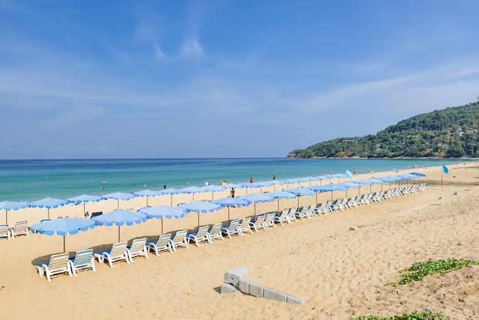 beach umbrellas on Karon Beach, THailand