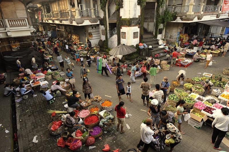 Ubud Market in Bali.