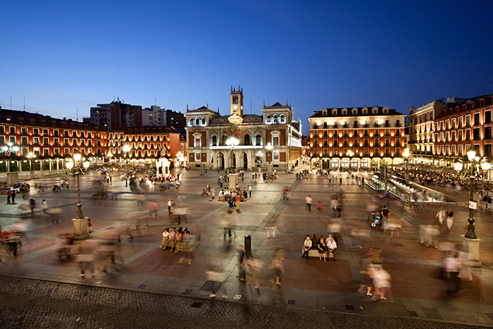 Plaza Mayor Vallodalid, spain