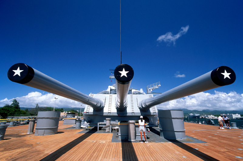 USS Missouri, battleship in hawaii