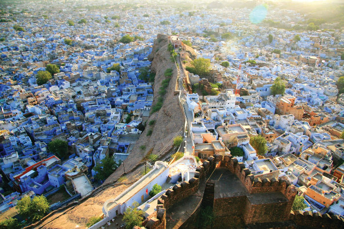 jodhpur rajasthan is famous for its blue buildings and alleyways