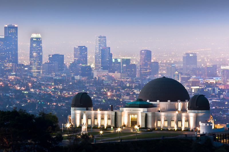 Griffith Observatory on Mount Hollywood, California
