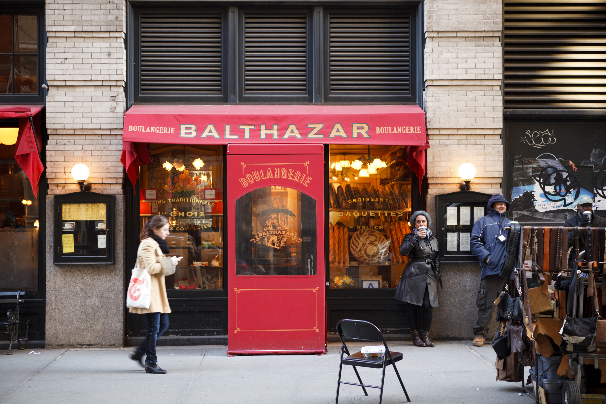 Balthazar restaurant in Soho.