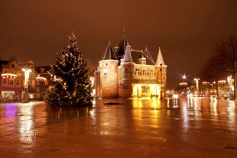 Christmas at the Nieuwmarkt in Amsterdam.