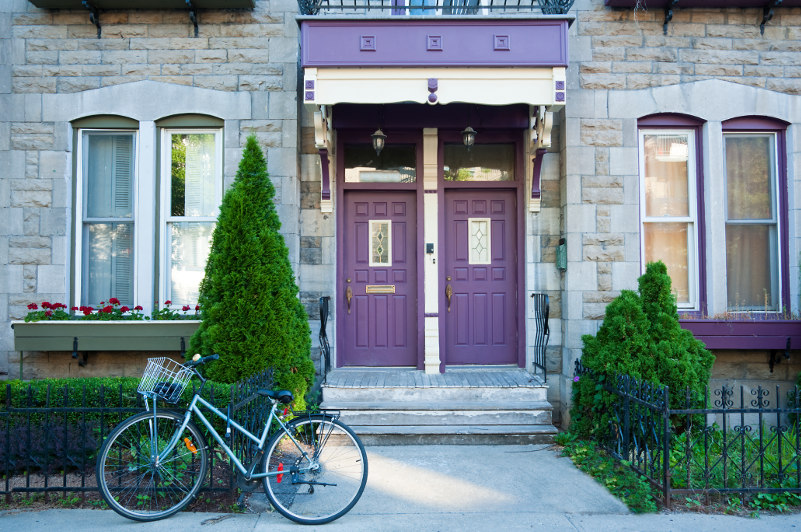 bicycle outside a Montreal home