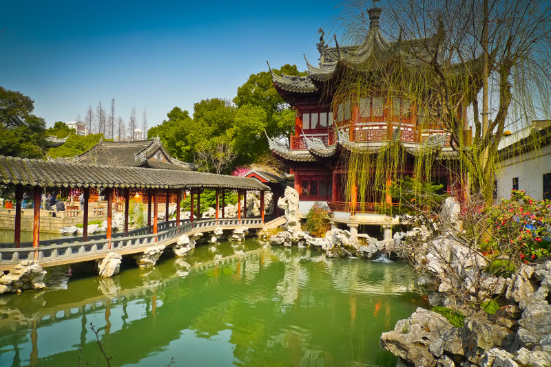 The Pavilion of Listening to Billows in Yu Garden, Shanghai, China