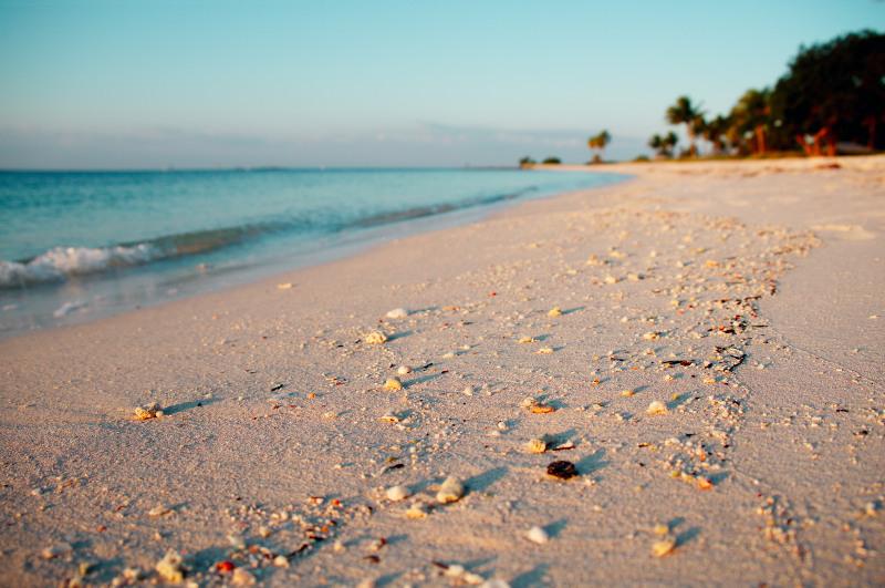 White sands of Sombrero Beach, Florida, USA
