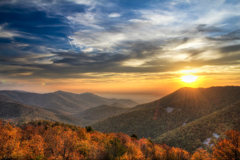 Appalachian Mountains of Shenandoah National Park, Virginia, USA