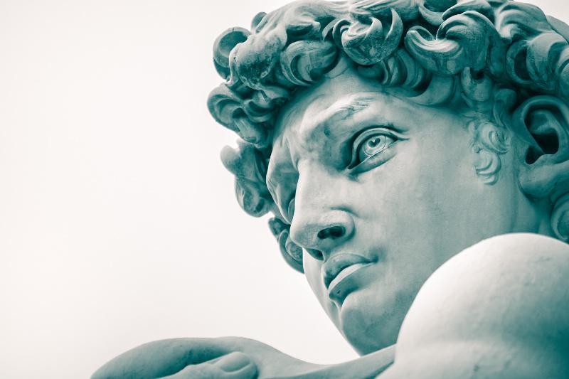 Michaelangelo's statue of David, Florence, Italy