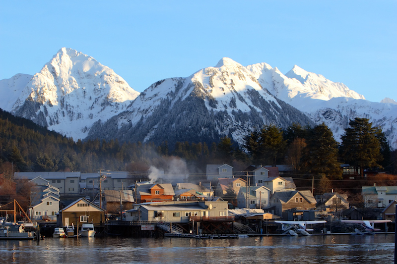The small town of Sitka, Alaska.