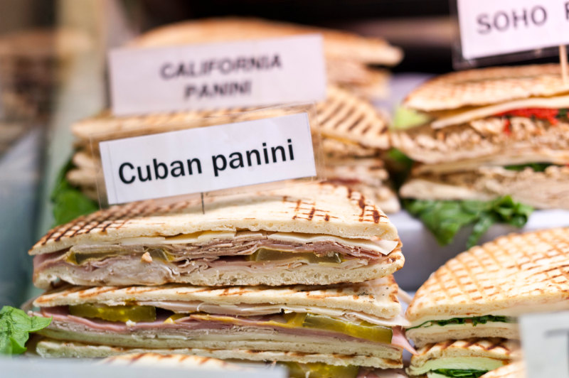 Cuban Sandwich in deli, Miami