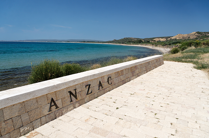 Anzac Cove in Gallipoli, Turkey