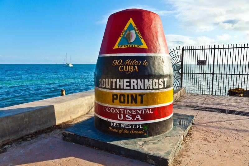 The buoy at Key West, Florida Keys, USA
