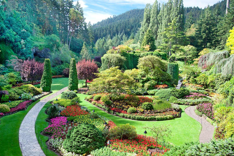 Butchart gardens in guarry