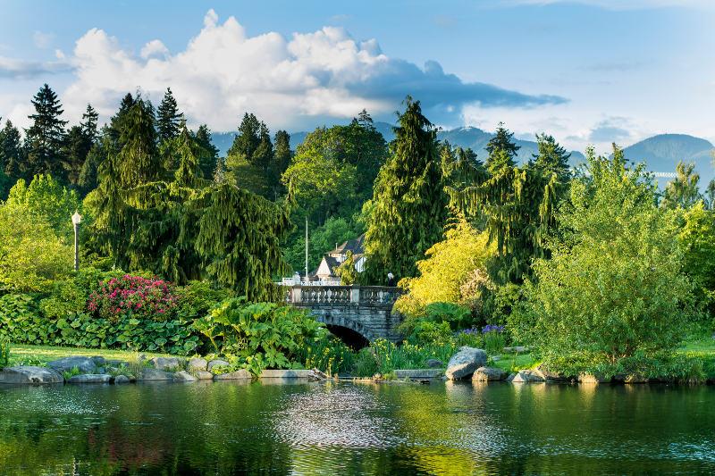 Trees and bridge Stanley Park, Vancouver, Canada
