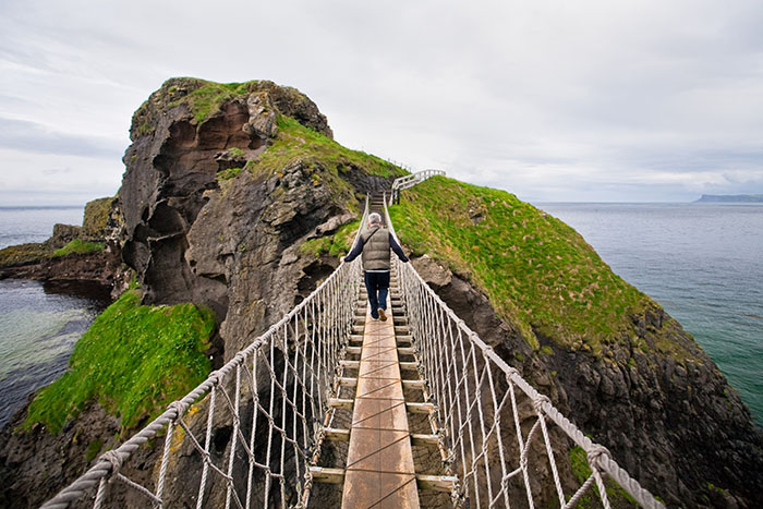 The Carrick-a-rede bridge northern ireland