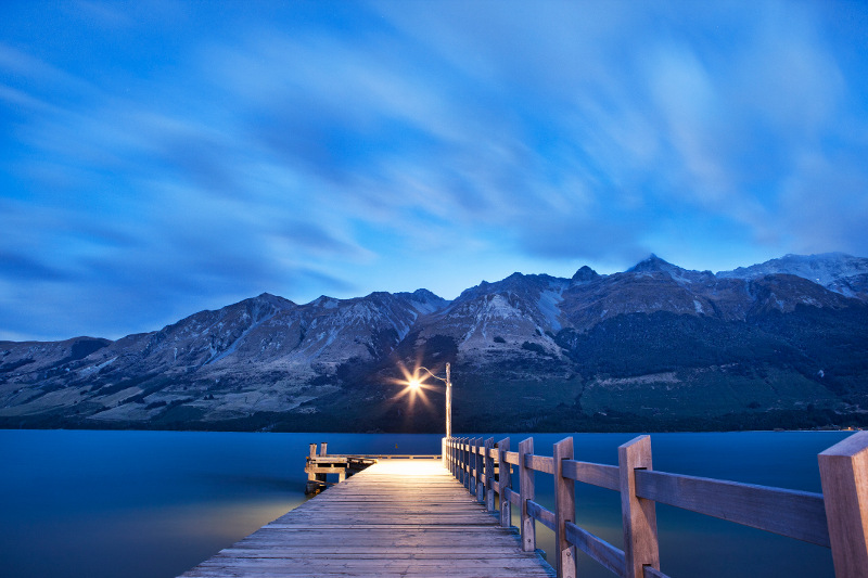 Pier at Glenorchy New Zealand