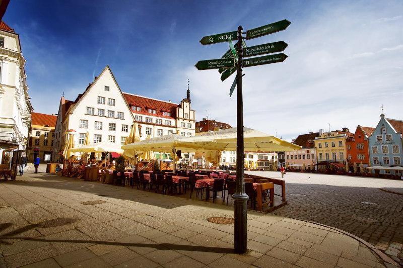 Old Town square, Tallinn, Estonia