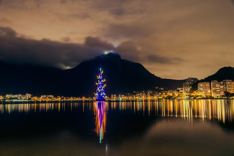 Rio de Janeiro christmas tree in lights