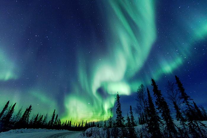 Northern lights in yellowknife canada