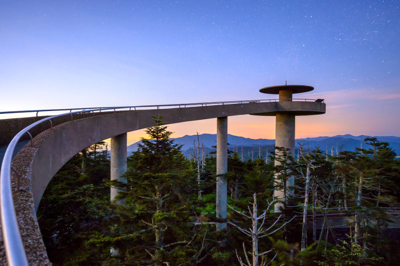 Clingmans Dome observation tower, Great Smoky Mountains, Tennessee