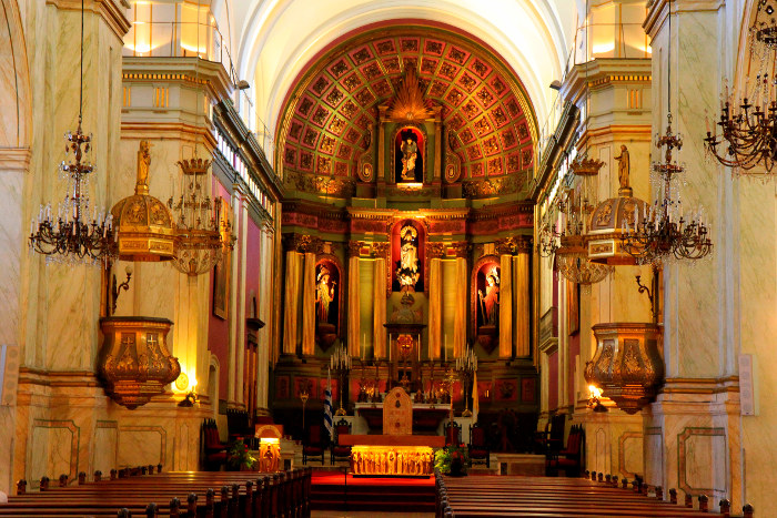 catholic church interior montevideo uruguay