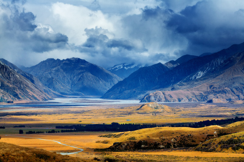 Rangitata Valley and Mount Sunday, New Zealand