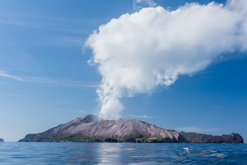 active volcano, New Zealand