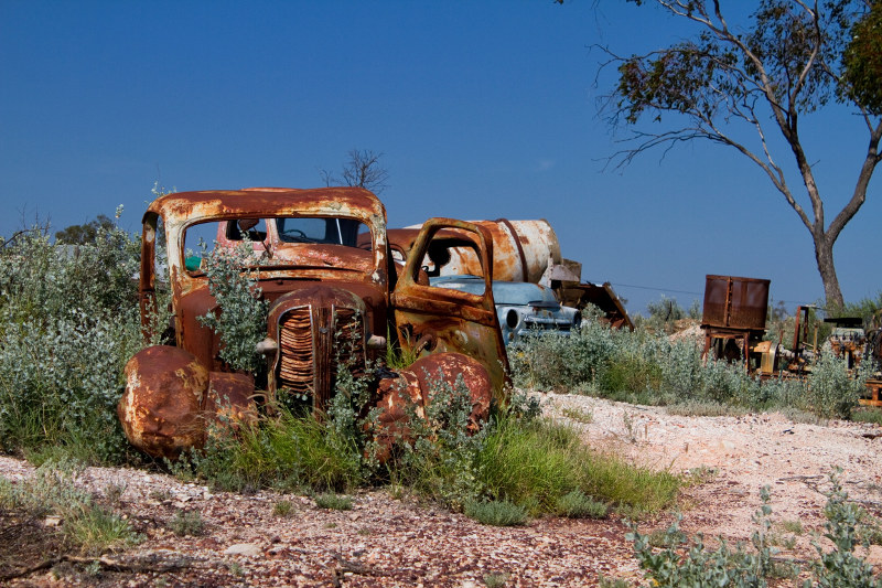 Abandoned cars and mining equipment New South Wales