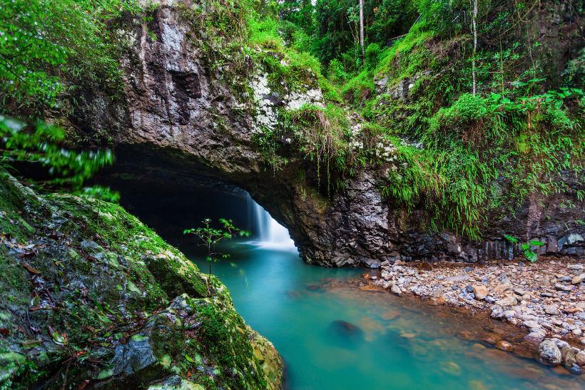 natural bridge waterfall springbrook queensland