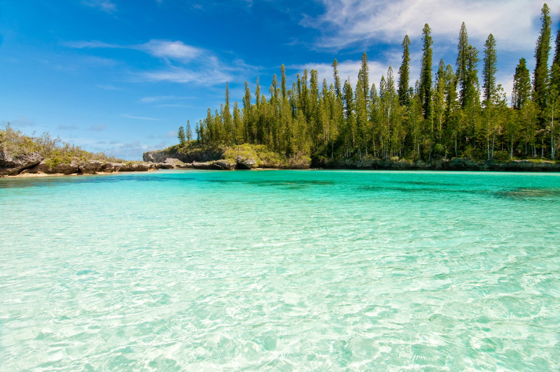 The natural pool of Oro Bay, Isle of Pines, New Caledonia.