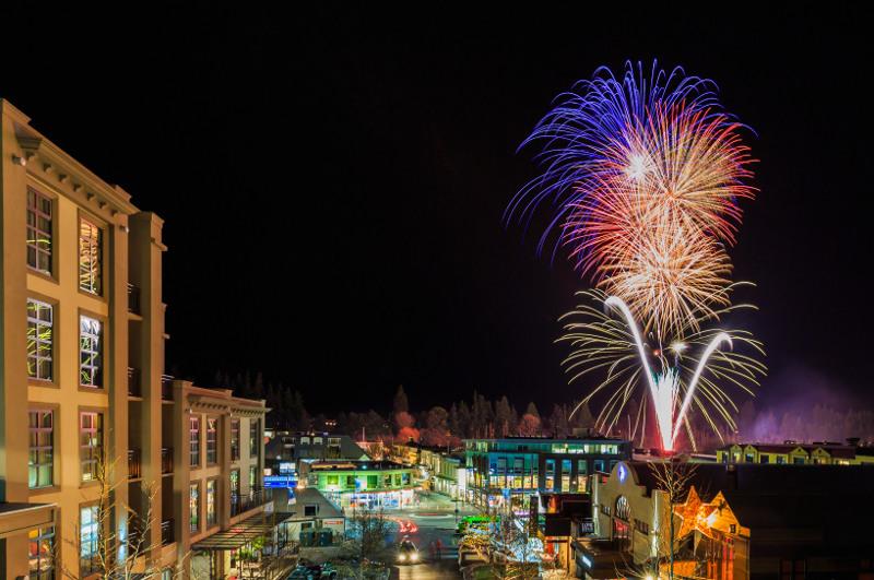Fireworks over Queenstown New Zealand