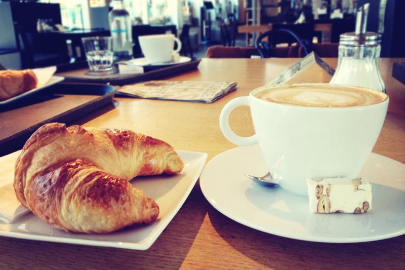 medialuna and coffee, Buenos Aires