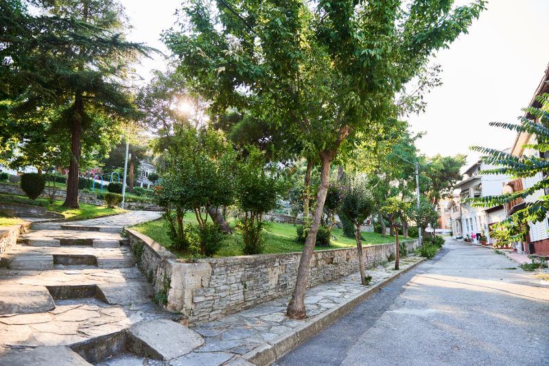 Park Street on the island of Heybeliada, Turkey.
