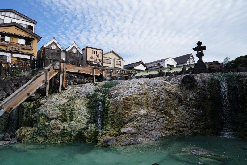 Kusatsu town in Japan