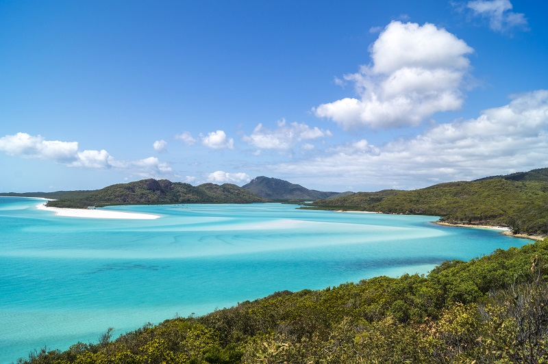 Escape to island time in the Whitsundays, just 1.5 hour flight from Brisbane.
