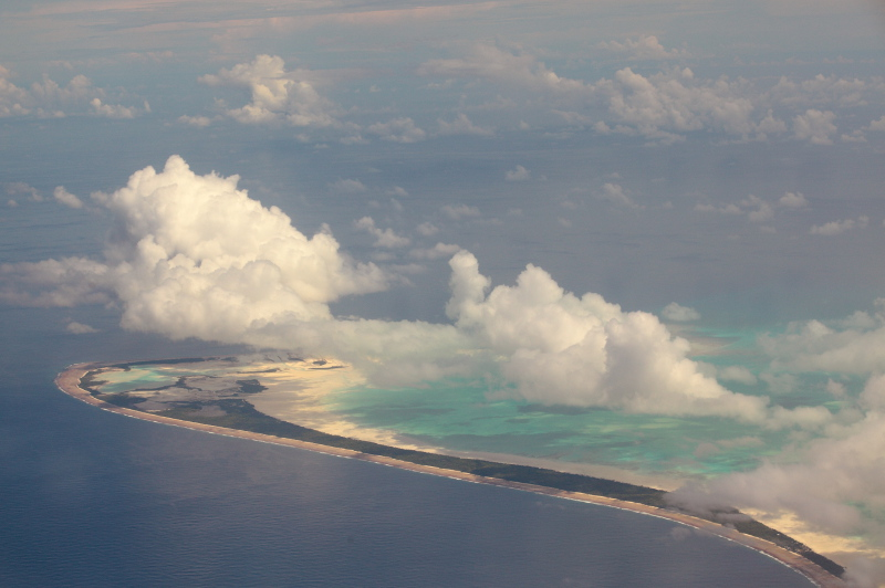 Kiribati islands from the air
