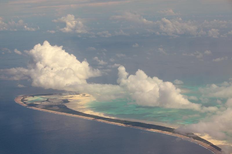 Kiribati islands from the air
