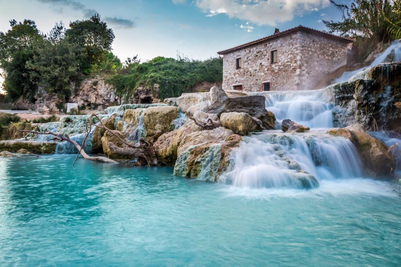 saturnia italy waterfall