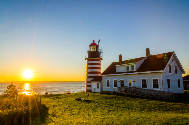 West Quoddy Head Lighthouse, United States.
