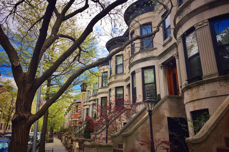 Row of houses in Park Slope, Brooklyn, New York